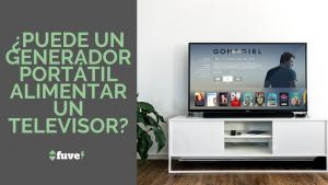 ¿Puede un generador portátil alimentar un televisor