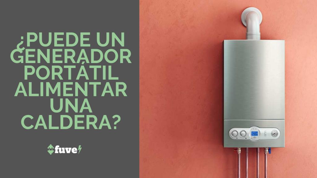 ¿Puede un generador portátil alimentar una caldera