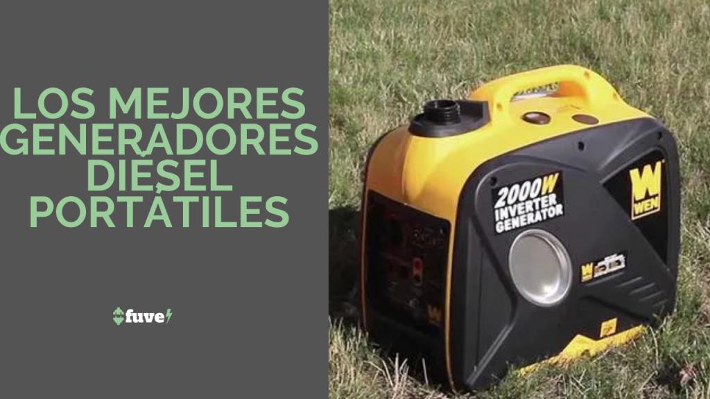 Los mejores generadores diésel portátiles