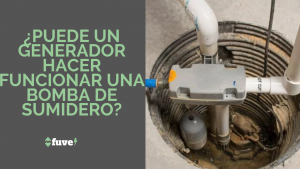 ¿Puede un generador hacer funcionar una bomba de sumidero